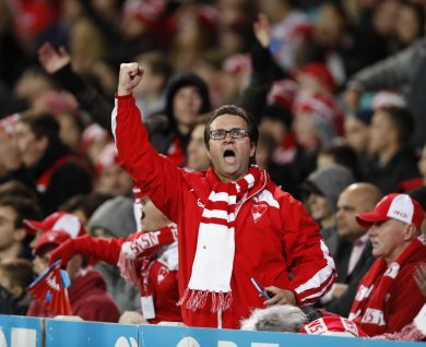 SYDNEY, AUSTRALIA - MAY 27: during the 2016 AFL Round 10 match between the Sydney Swans and the North Melbourne Kangaroos at the Sydney Cricket Ground on May 27, 2016 in Sydney, Australia. (Photo by Michael Willson/AFL Media)
